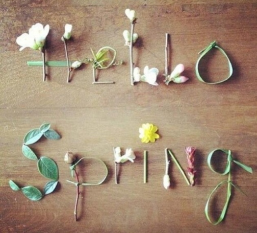 The first day of spring and promise of summer to follow,